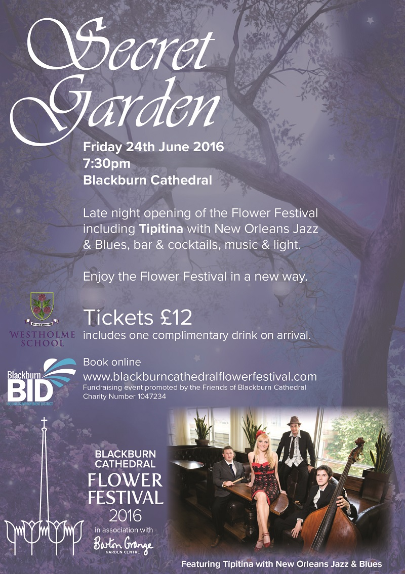 Secret Garden - Jazz & Cocktails featuring Tipitina - Tickets £12 including welcome drink